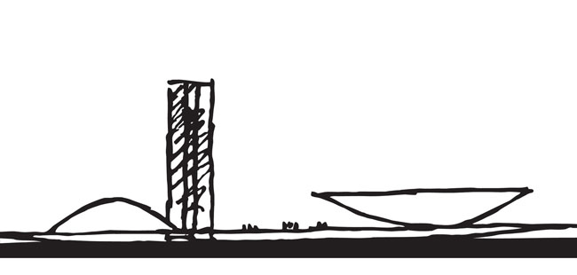Oscar Niemeyer Drawing - Brasilia
