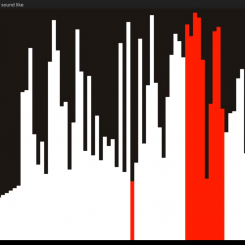 Selection sort algorithm - Visualization and sonification / audification