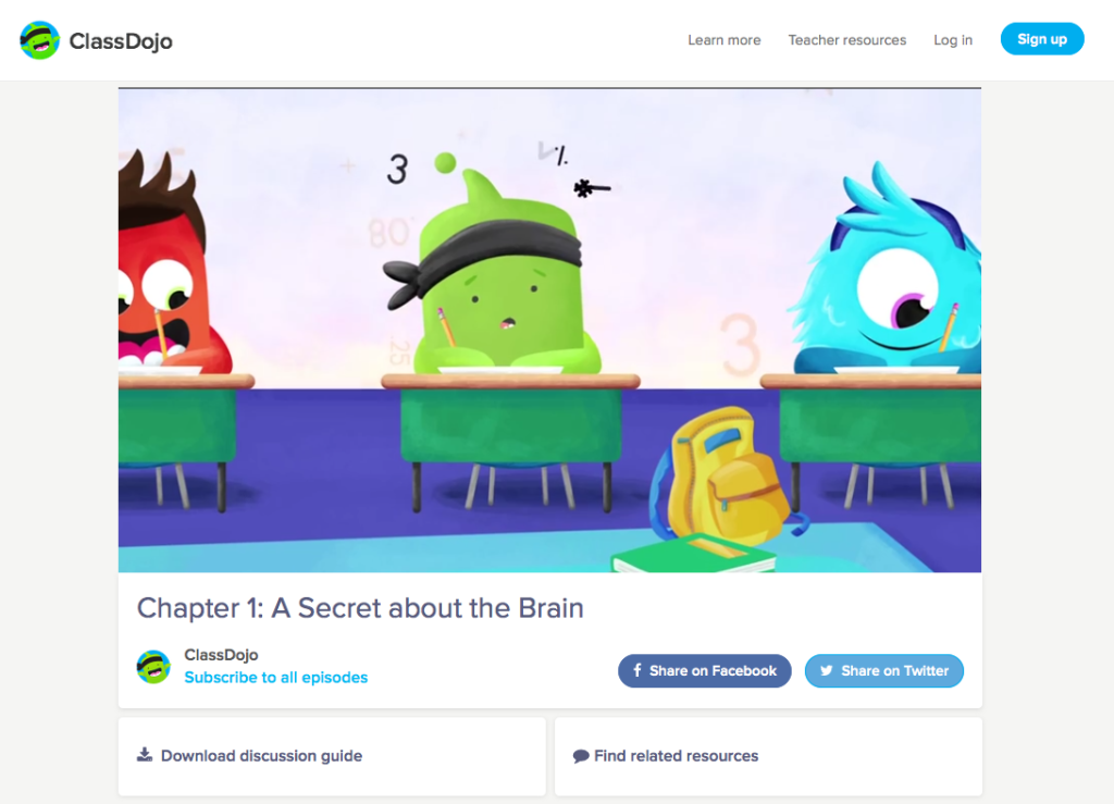 classdojo big ideas series growth mindset critique