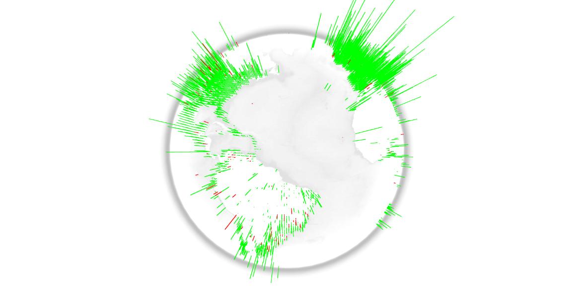 WebGL globe emotiglobe