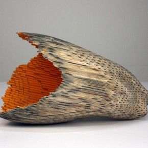 Pencil sculpture by Jessica Drenk