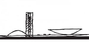 Oscar Niemeyer Drawing - Brasilia