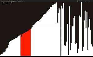 Gnome sort algorithm - Visualization and sonification / audification