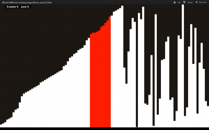 Insert sort algorithm - Visualization and sonification / audification